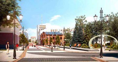 В Пинске устанавливают декоративные арки